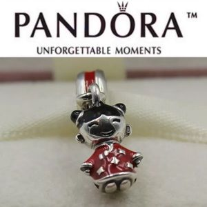 791431ENMX Retired Pandora Chinese Doll Charm